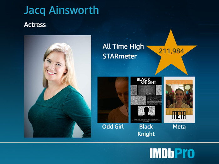 Jacq Ainsworth acting, audiobooks